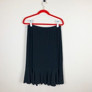 Slinky Brand Pull on Skirt with Flutter Hem